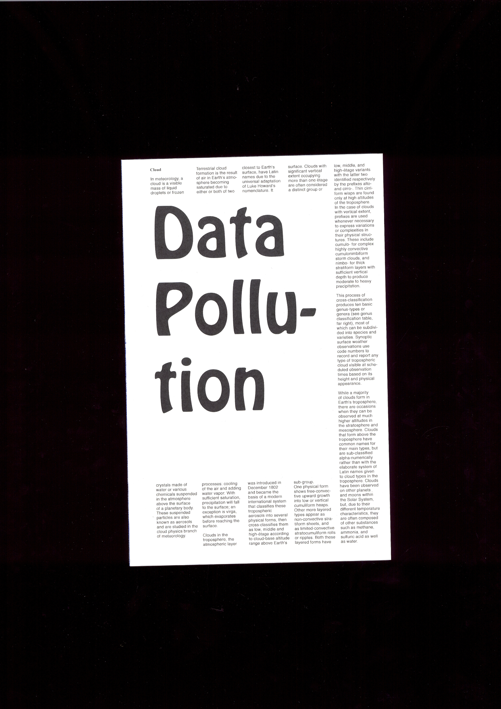PAULINE BAUMBERGER Data Pollution